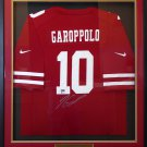 Jimmy Garoppolo Autographed Signed Framed San Francisco 49ers Nike Jersey BECKETT