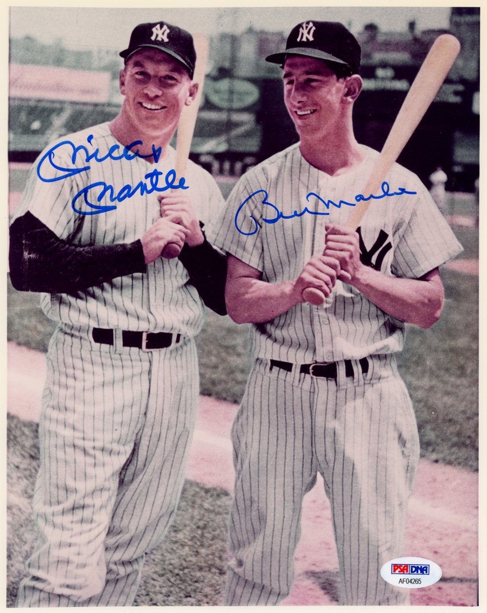 Mickey Mantle & Billy Martin New York Yankees Autographed Signed 8x10 Photo PSA