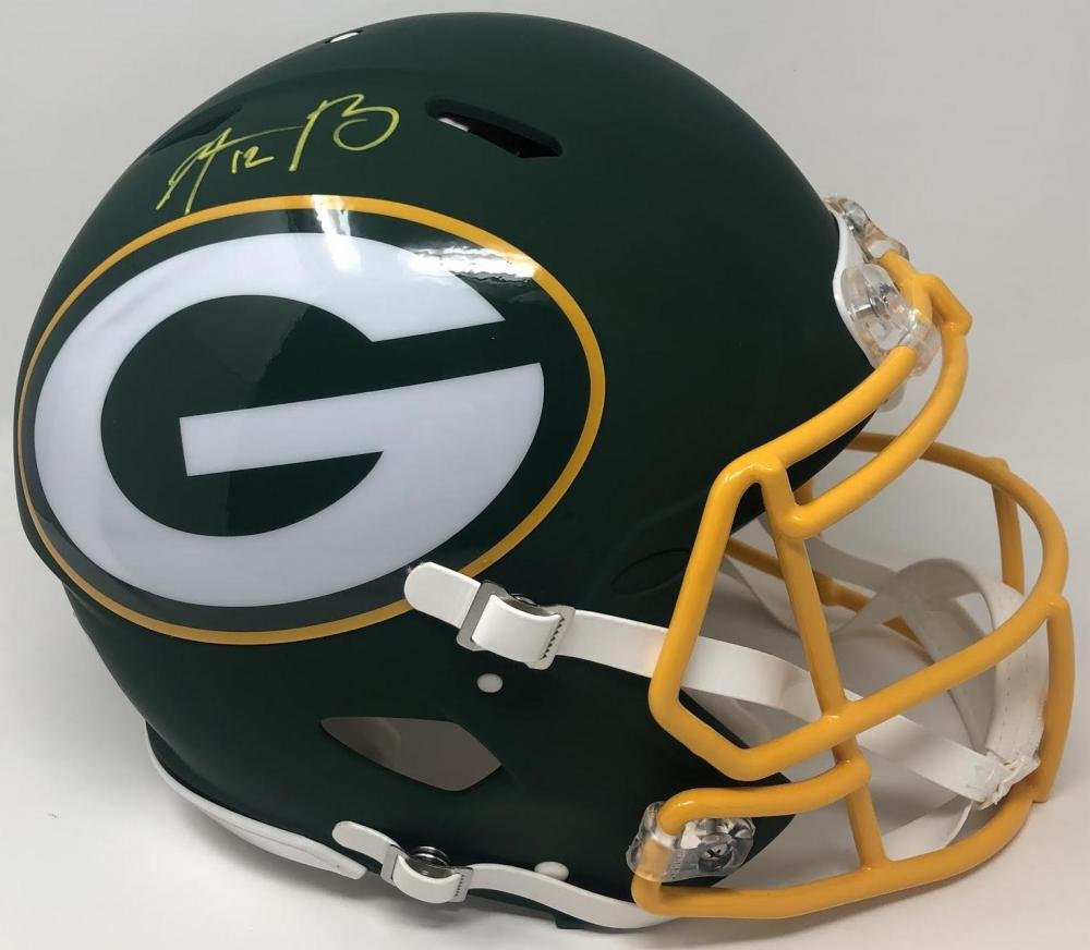 Aaron Rodgers Autographed Signed Green Bay Packers FS Speed Proline AMP Helmet FANATICS