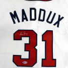 Greg Maddux Signed Autographed Atlanta Braves Majestic Jersey BECKETT