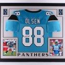 Greg Olsen Autographed Signed Framed Carolina Panthers Jersey JSA