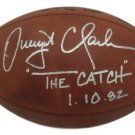Dwight Clark San Francisco 49ers Autographed Signed Football JSA