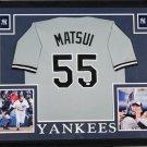 Hideki Matsui Autographed Signed New York Yankees Framed Jersey JSA