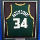 Giannis Antetokounmpo Signed Autographed Framed Milwaukee Bucks Jersey JSA
