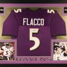 Joe Flacco Autographed Signed Framed Baltimore Ravens Jersey JSA