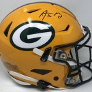 Aaron Rodgers Autographed Signed Green Bay Packers Speed Flex Helmet FANATICS