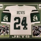 Darrelle Revis Autographed Signed Framed New York Jets Jersey JSA