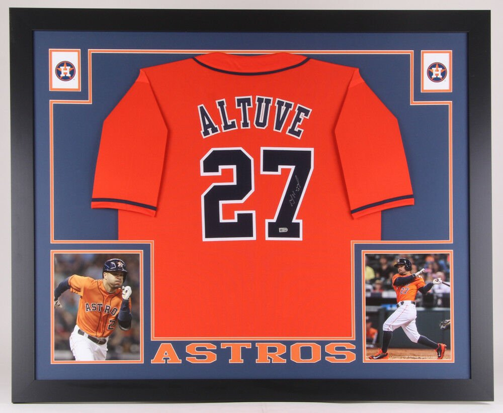 Jose Altuve Signed Autographed Framed Houston Astros Jersey MLB