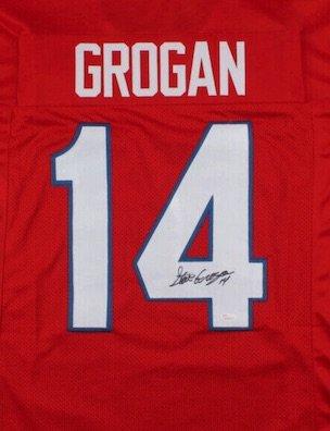 Steve Grogan Autographed Signed New England Patriots Jersey JSA