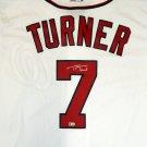 Trea Turner Autographed Signed Washington Nationals Majestic Jersey MLB