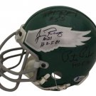 9 Eagles Legends Signed Autographed Philadelphia Eagles Mini Helmet BECKETT