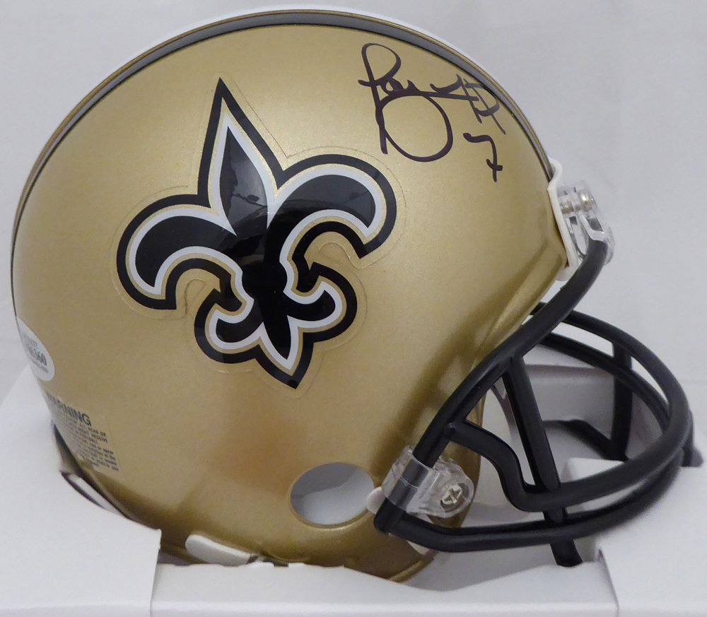 Taysom Hill Autographed Signed New Orleans Saints Mini Helmet BECKETT