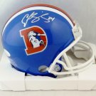 Champ Bailey Autographed Signed Denver Broncos Mini Helmet JSA