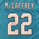 Christian McCaffrey Autographed Signed Carolina Panthers Blue Jersey BECKETT
