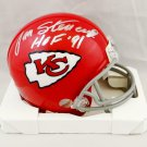 Jan Stenerud Signed Autographed Kansas City Chiefs Mini Helmet JSA