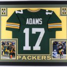 Davante Adams Signed Autographed Green Bay Packers Framed Jersey JSA