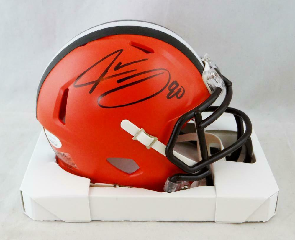 Jarvis Landry Autographed Signed Cleveland Browns Speed Mini Helmet JSA
