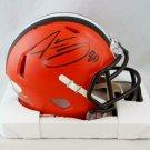 Jarvis Landry Autographed Signed Cleveland Browns Speed Mini Helmet JSA