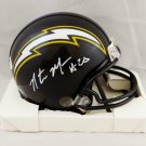 Natrone Means Autographed Signed San Diego Chargers Mini Helmet JSA