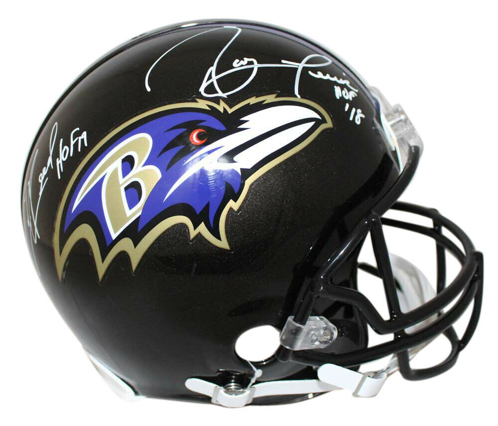 Ray Lewis & Ed Reed Autographed Signed Baltimore Ravens FS Proline Helmet JSA