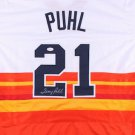 Terry Puhl Signed Autographed Houston Astros Jersey JSA
