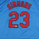 Ted Simmons Signed Autographed St. Louis Cardinals Jersey PSA