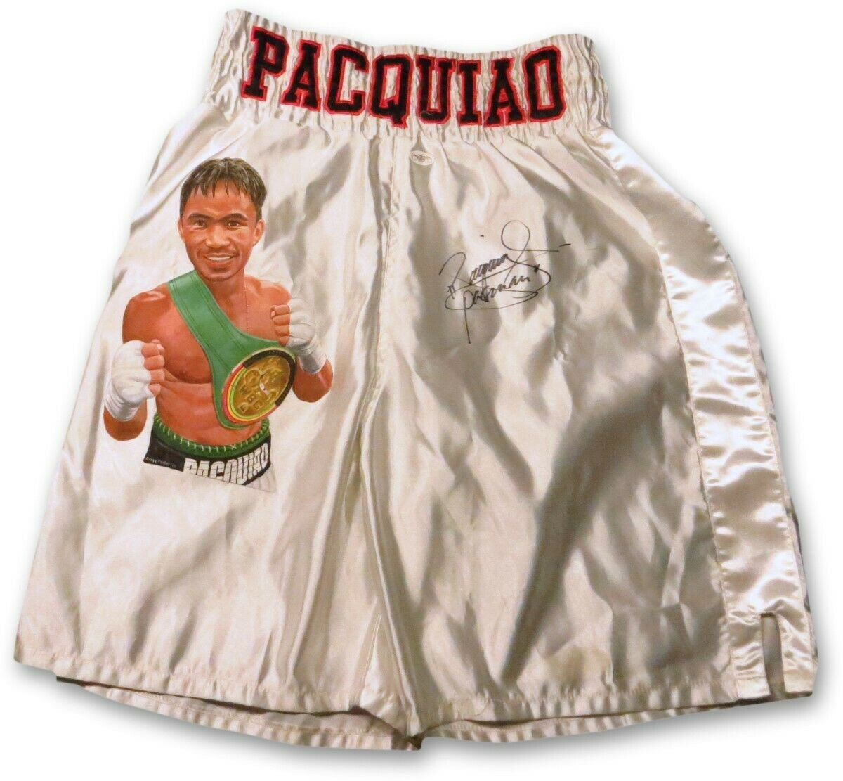 Manny Pacquiao Signed Autographed Custom Painted Boxing Trunks JSA