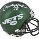 Curtis Martin Autographed Signed Green New York Jets Mini Helmet BECKETT