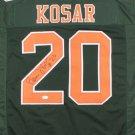 Bernie Kosar Signed Autographed Miami Hurricanes Jersey JSA