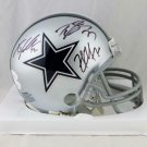 Zack Martin, Travis Frederick & Tyron Smith Autographed Signed Dallas Cowboys Mini Helmet JSA