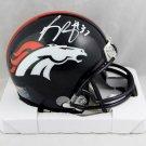 Phillip Lindsay Autographed Signed Denver Broncos Mini Helmet JSA