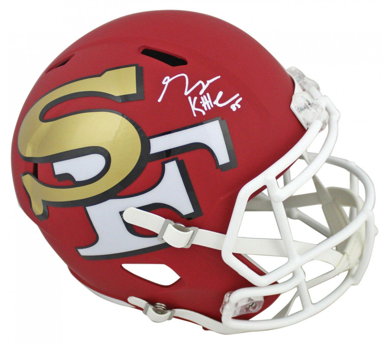 George Kittle Autographed Signed San Francisco 49ers FS Amp Helmet BECKETT
