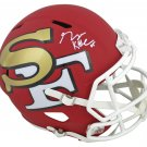 George Kittle Autographed Signed San Francisco 49ers FS Amp Helmet BECKETT