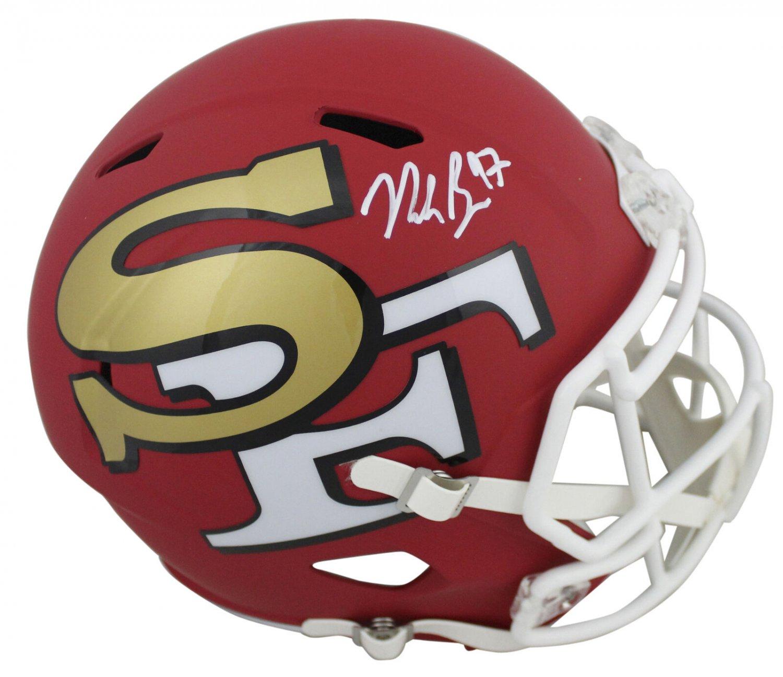 Nick Bosa Autographed Signed San Francisco 49ers FS Amp Helmet BECKETT