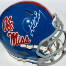Archie Manning Saints Autographed Signed Ole Miss Rebels Mini Helmet PSA