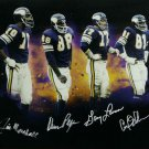 Purple People Eaters (4 Sigs) Signed Autographed Minnesota Vikings 16x20 Photo COA