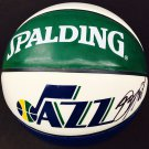 Donovan Mitchell Signed Autographed Utah Jazz Logo Basketball PSA