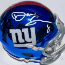 Daniel Jones Autographed Signed New York Giants Chrome Mini Helmet PSA