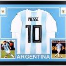 Lionel Leo Messi Signed Autographed Framed Argentina Jersey BECKETT