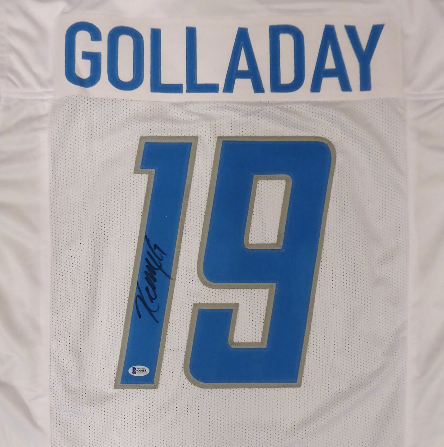 Kenny Golladay Autographed Signed Detroit Lions Jersey BECKETT