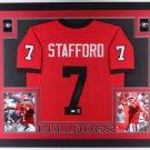 Matthew Stafford Autographed Signed Framed Georgia Bulldogs Jersey JSA