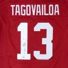 Tua Tagovalioa Autographed Signed Alabama Crimson Tide Jersey BECKETT