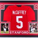 Christian McCaffrey Autographed Signed Framed Stanford Cardinals Jersey JSA
