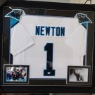 Cam Newton Signed Autographed Framed Carolina Panthers Jersey JSA