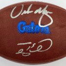 Tim Tebow & Urban Meyer Autographed Signed Florida Gators Nike Football FANATICS