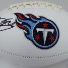 Derrick Henry Signed Autographed Tennessee Titans Logo Football BECKETT