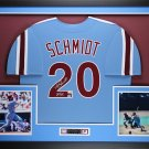 Mike Schmidt Signed Autographed Framed Philadelphia Phillies Cooperstown Jersey HOF COA