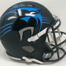 Christian McCaffrey Autographed Signed Carolina Panthers FS Amp Speed Helmet FANATICS