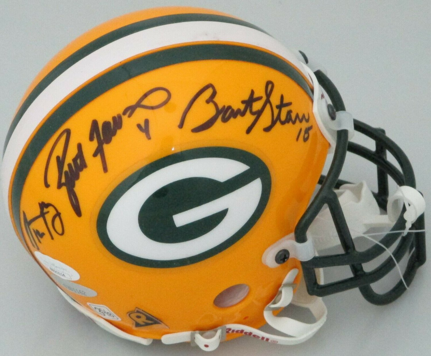 Starr Favre & Rodgers Autographed Signed Green Bay Packers Mini Helmet JSA