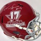 Tua Tagovalioa Autographed Signed Alabama Crimson Tide FS Speed Helmet PSA